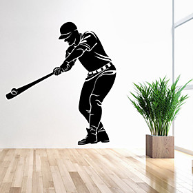 Image of 4122 Sport Wall Decor Baseball Player Wall Sticker Living Room Home Decoration PVC Removable