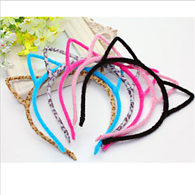 Cute Cat Ear Colorful Fur Headband Casual 1 piece