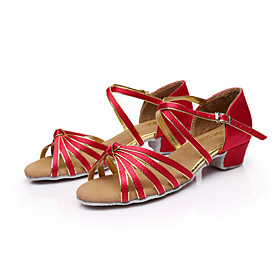 Women's Dance Shoes Satin / Leatherette Latin Shoes / Ballroom Shoes / Salsa Shoes Buckle Sandal Low Heel Non Customizable Brown / Gold / Royal Blue / EU40 Category:Salsa Shoes,Ballroom Shoes,Latin Shoes; Upper Materials:Leatherette,Satin; Embellishment:Buckle; Lining Material:Fabric; Heel Type:Low Heel; Actual Heel Height:1.38; Gender:Women's; Range:EU40; Style:Sandal; Heel Height(inch):1 - 2; Outsole Materials:Suede; Age Group:Kid's; Closure Type:Buckle; Customized Shoes:Non Customizable; Brand:SUN LISA; Listing Date:10/13/2014; Foot Length:; SizeChart1_ID:2:468; Size chart date source:Provided by Supplier.; Base Categories:Shoes,Apparel  Accessories,Dance Shoes; Popular Country:Korea, Republic of,Japan,United Kingdom,United States