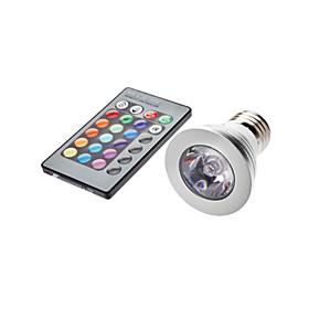 5W E26/E27 LED Spotlight MR16 1 lm RGB Remote-Controlled AC 85-265 V
