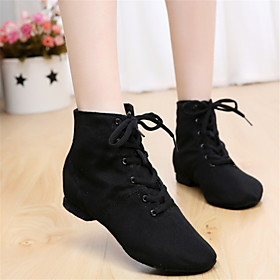 Women's Dance Shoes Canvas / Leatherette Jazz Shoes Boots Non Customizable Black / Red / EU39 Category:Jazz Shoes; Upper Materials:Leatherette,Canvas; Season:Winter,Fall,Summer,Spring; Lining Material:Suede; Gender:Women's; Range:EU39; Style:Boots; Outsole Materials:Leather; Closure Type:Lace-up; Customized Shoes:Non Customizable; Brand:Shall We; Foot Length:; SizeChart1_ID:2:468; Size chart date source:Provided by Supplier.; Base Categories:Dance Shoes,Shoes,Apparel  Accessories; Popular Country:United States