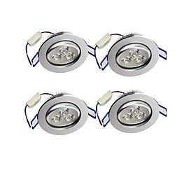 3W LED Recessed Lights Recessed Retrofit 3 High Power LED 300 lm Warm White Decorative AC 85-265 V 4 pcs