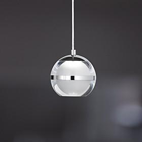 UMEI™ Globe Pendant Light Ambient Light Chrome Metal Acrylic LED 110-120V / 220-240V Warm White / Cold White LED Light Source Included / LED Integrated / FCC