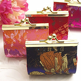 Asian Coin Purse Candy Favor Box Wedding Decorations Ramdom Color