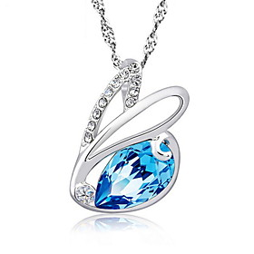 925 Sterling Silver Chain Cute Zircon Rabbit Pendant Charm Bunny Necklace Bl..