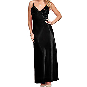 Women Chemises  Gowns Nightwear,Lace / Spandex
