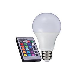 1 pcs  E27 10W/12W  6000K High Power LED 500-650LM RGB A Remote-Controlled Globe Bulbs AC 85-265V