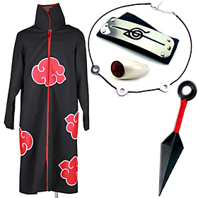 Inspired by Naruto Itachi Uchiha Anime Cosplay Costumes Cosplay Suits / More Accessories Print Black Cloak / More Accessories