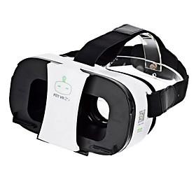 FiiT VR 2s Virtual Reality 3D Video Helmet Glasses - White  Black