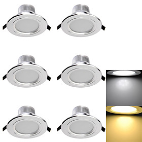 3000/6000 lm LED Recessed Lights 6 leds SMD 5730 Decorative Warm White Cold White AC 110 130V AC 220 240V AC 85 265V