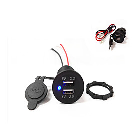 Dual USB Car Charger 5V 4.2A  High Quality!Waterproof!