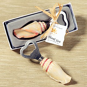 Recipient Gifts - Sea shells Resin Bottle Openers Summer, Beach, Nautical Theme Wedding Favors Non-personalised 5054069