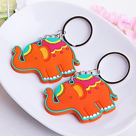 Lucky in Love Elephant Rubber Key Chain Beter Gifts Baby Birthday Souvenirs 5725512