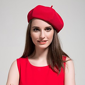 Women's Vintage Cute Beret Hat - Solid Colored 5027317