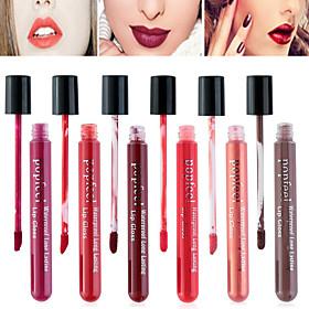 6 Selectable Colors Popfeel Full-Coverage Long Lasting 24 Hour Not Rub Off Matte Waterproof liquid Lipstick Lip Gloss