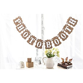 Photo Booth Bunting Banner Rustic Vintage Wedding Photography plus size,  plus size fashion plus size appare