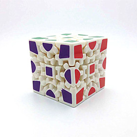 Toys Smooth Speed Cube Gear Speed Magic Cube White ABS