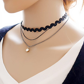 Women's Black Lace Choker Necklace Anniversary / Daily / Special Occasion / Office Career