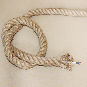(10m/lot)20.75 antique double braided hemp rope electrical wire Vintage pendant light cord knitted lights accessories