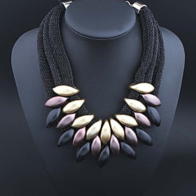 Women's Layered Jewelry Set Pendant Necklace Statement Necklace Ladies Fashion Multi Layer Festival / Holiday Silver Golden Rainbow Necklace Jewelry For Party