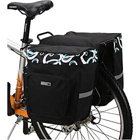 ROSWHEEL 30 L Bike Panniers Bag / Bike Rack Bag Waterproof, Adjustable, Large Capacity Bike Bag Mesh / 600D Polyester Bicycle Bag Cycle Bag Mountain Bike / Roa