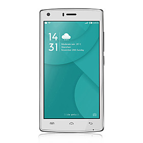 doogee x5 max pro 5.0 android 6.0 smartphone 4g (dual sim quad core 8 mp 2gb 16 gb zwart \/ wit)