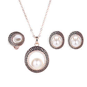 Lucky Doll Alloy / Imitation Pearl / Rhinestone / Rose Go ld Plated Jewelry ..