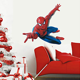 Superhero Spider-Man Wall Stickers Cartoon Children's Room Bedroom Wall Art PVC Wall Decals 5027265