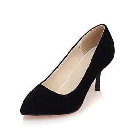 Women's Shoes Fleece Spring Summer Heels Stiletto Heel Pointed Toe for Casual Office  Career Party  Evening Black Beige Blue 5504961