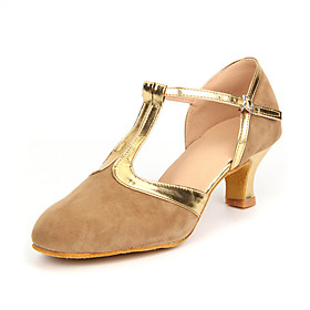 Women's Modern Shoes / Ballroom Shoes Suede Buckle Heel Cuban Heel Non Customizable Dance Shoes Black and Gold / Brown / Royal Blue / Leather / EU42 Category:Ballroom Shoes,Modern Shoes; Upper Materials:Suede; Lining Material:Synthetic; Heel Type:Cuban Heel; Actual Heel Height:2.17; Gender:Women's; Range:EU42; Style:Heel; Heel Height(inch):2 - 3; Outsole Materials:Leather; Closure Type:Buckle; Customized Shoes:Non Customizable; Brand:Shall We; Listing Date:11/14/2014; Foot Length:; Foot Width:null; SizeChart1_ID:2:468; Popular Country:United Kingdom,France,United States; Special selected products:hot
