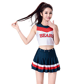 Cheerleader Costumes Outfits Women's Performance European Style Pleated Dance Costumes
