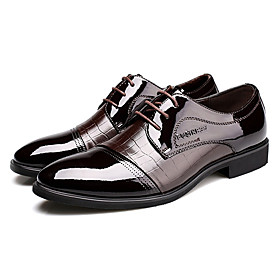 Men's Shoes Office  Career/Party  Evening/Casual Patent Leather Oxfords Black/Brown