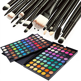 120 Colors Professional Dazzling MatteShimmer 3in1 Eyeshadow Makeup Cosmetic Palette with 20 Eyeshadow Brush Set 3204