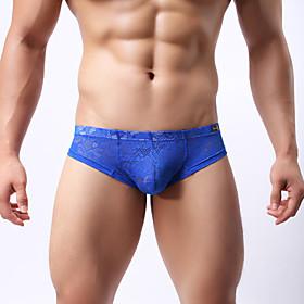Men's sexy underwear Lace underwear Temptation transparent thong