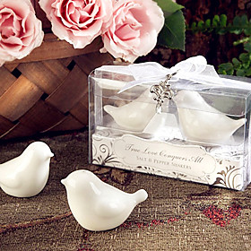Recipient Gifts - Love Birds Salt and Pepper Shakers Wedding Favors with lovely charm 5054131