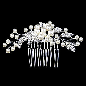 96cm Hair Combs with Pearl Crystal for Lady Wedding Party Hair Jewelry