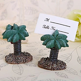Beter Gifts 4pcs Tropical Coconut Tree Place card Holder Wedding Décor, Party Decoration 5093689