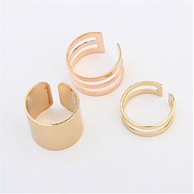 Ringen Dames / Heren / Stelletjes Geen Steen Licht Metaal Licht Metaal Verstelbaar / 6 Goud / ZilverKleur  stijl vertegenwoordiging kan