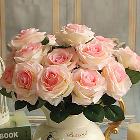 9 Heads/Bouquet Artificial Silk Decorative Rose Flower For Wedding Party Decoration Bouquet 6 Colors Artificial Flowers