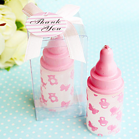 Beter Gifts Recipient Gifts - 1Piece/Set - Pink baby bottle candle favors, Cake Decorating 5093671