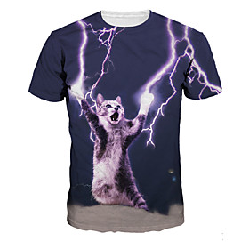 Inspired by Cosplay Cosplay Anime Cosplay Costumes Cosplay T-shirt Print Purple Short Sleeve T-shirt For Male / Female