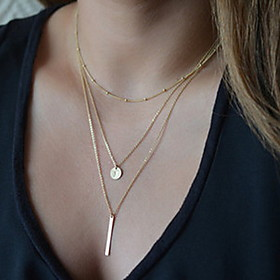 Women's Pendant Necklace Y Necklace Ladies Basic Fashion Silver Golden Necklace Jewelry For Party Daily Casual
