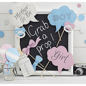 Hard Card Paper Wedding Decorations-10Piece/Set Unique Baby Shower Photo Booth Props Party 5122276