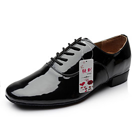 Men's Dance Shoes Patent Leather Modern Shoes Lace-up Heel Chunky Heel Non Customizable Black / White / Performance Category:Modern Shoes; Upper Materials:Patent Leather; Embellishment:Lace-up; Lining Material:Fabric; Heel Type:Chunky Heel; Actual Heel Height:0.98; Gender:Men's; Style:Heel; Heel Height(inch):1 - 2,<1; Outsole Materials:Leather; Occasion:Performance; Closure Type:Lace-up; Customized Shoes:Non Customizable; Listing Date:04/20/2015; Foot Length:; SizeChart1_ID:2:482; Size chart date source:Provided by Supplier.; Base Categories:Dance Shoes,Shoes,Apparel  Accessories; Popular Country:United Kingdom