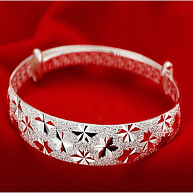 Women's Bracelet Bangles Sterling Silver Ladies Fashion Bracelet Jewelry Silver For Christmas Gifts