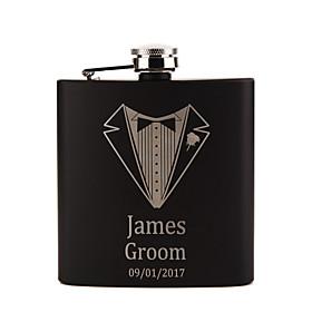 Personalized Stainless Steel Barware  Flasks Hip Flasks Groom Groomsman Couple Parents Wedding Birthday Valentine