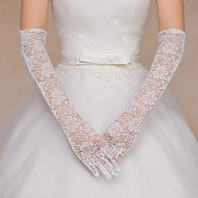 Opera Length Fingertips Glove Lace Bridal Gloves / Party/ Evening Gloves