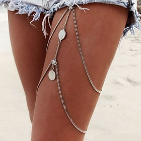 Women's Body Jewelry Leg Chain Body Chain Alloy Sexy Tassels Statement Jewelry Fashion Silver Jewelry Daily Casual Christmas Gifts 1pc