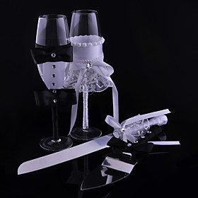 Bride And Groom Fabrics Cups Knife And Fork Combination 5097032
