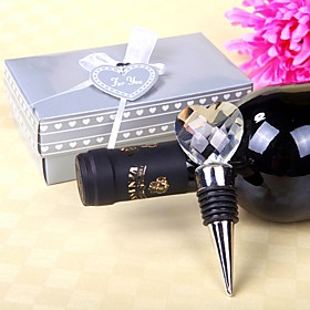 Beter Gifts Recipient Gifts - Crystal Heart Design Wine Bottle Stopper Tea Party Souvenirs 5093690